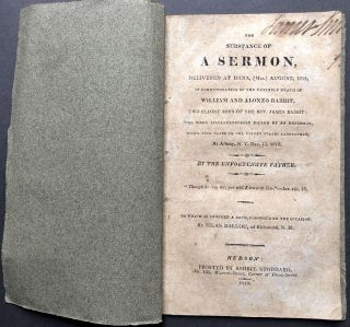 The Substance of a Sermon, delivered at Dana, (Mas.) August, 1815, in commemoration of the...