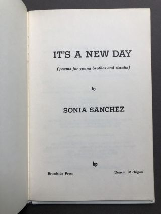 It's a New Day ( poems for young brothas and sistuhs )