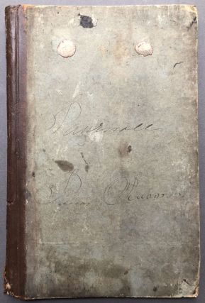 1837 blank tall account book from Louisville, KY