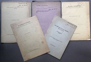 6 offprints on botany 1904-1914: The Influence of the Teacher's Research Work upon his Teaching...