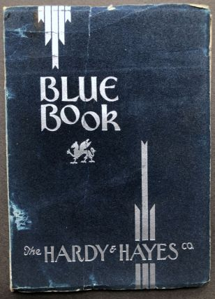 Blue Book, The Hardy & Hayes Co., 1932. Hardy, Pittsburgh Hayes Co