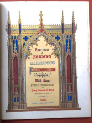 Specimens of the Ecclesiastical Architecture of Great Britain from the...