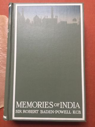 Memories of India - First American edition in original wax dust jacket