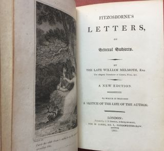 Fitzosborne's Letters, on Several Subjects...A new edition to which is...