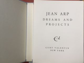 Dreams and Projects. Jean Arp