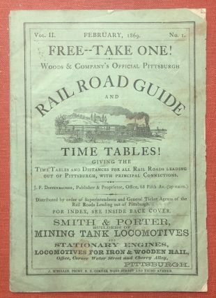 Woods & Company's Official Pittsburgh Rail Road Guide and Time...