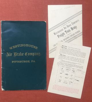 Instruction Book. The Westinghouse Air Brake Co. Works: Robinson, Lacock...