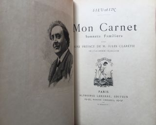 Mon Carnet, Sonnets Familiers (inscribed to his daughter) 1904