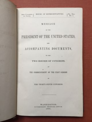 Message of the President of the United States, and Accompanying Documents to the Two Houses of...