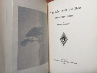 The Man with the Hoe and other poems (1899 first edition, inscribed copy)