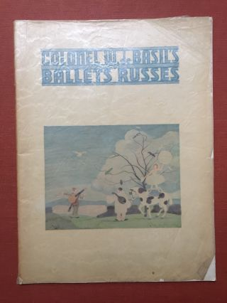 Program: S. Hurok Presents Col. W. de Basil's Ballets Russes of Monte Carlo (1935). S. Hurok Col....