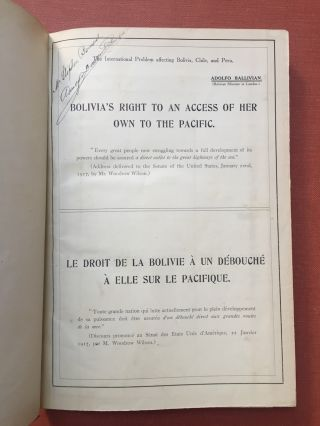 3 publications on Bolivia bound in one volume: Bolivia's Right to an Access of her own to the...