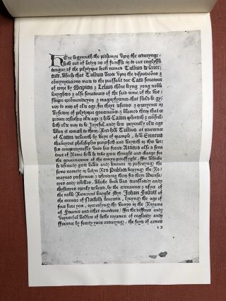 Caxton's Tully, Of Old Age and Friendship, 1481, Now for the first time collated...with an exact description of all the extant copies