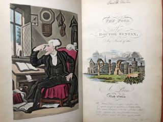 3 volumes of Dr. Syntax - The First Tour of Doctor Syntax in Search of the Picturesque; The Second Tour of Doctor Syntax in Search of Consolation; The Third Tour of Doctor Syntax in Search of a Wife