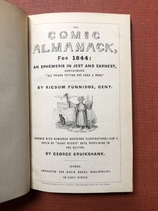 The Comic Almanack for 1844 and 1845, an Ephemeris in...