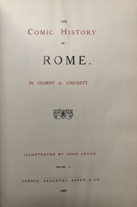 The Comic History of Rome, 2 volumes, large paper edition, with mounted plates throughout, finely bound