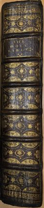 The Holy Bible Containing the Old Testament and the New (1701, folio lectern Bible in original binding) - the first Bible to cite the central chronological event as Christ's birth, marking time as either 'Before Christ' or 'Anno Domini'
