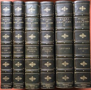 The Works of Charles Lamb (12 volumes complete, 1903, finely bound, extra illustrated with plates from the 18th and 19th centuries)