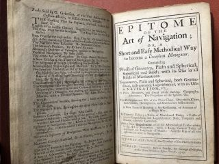 Epitome of the Art of Navigation (1717 edition) [with] A Supplement containing several Tables...