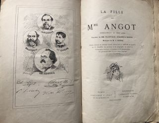 La Fille de Mme (Madame) Angot, Opera-Comique en Trois Actes (1875, with major handwritten...
