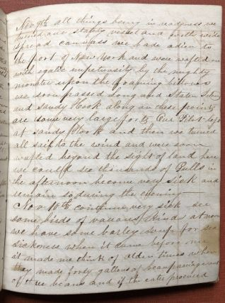 Journals of Hiram Howland, including a long detailed account of...