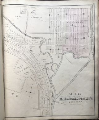 Combination Atlas Map of Crawford County Pennsylvania (1876)