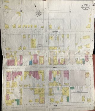 Sanborn Map of Clarion, PA, for the Exclusive use of M. M. & Louis Kaufman, Agents