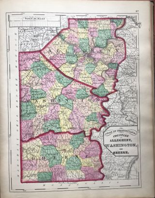 A New Topographical Atlas of the State of Pennsylvania with...