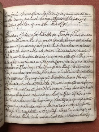 Original 250 page medical student's notes from lectures by John...