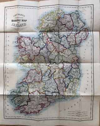 Cruchley's Tourist's [or Tourist] Map of Ireland with the Railways, Roads, &c. (1862). Ireland -...
