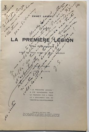 La Première Légion - inscribed by Silvain to his sister and her husband