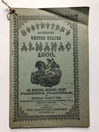 Hostetters illustrated United States Almanac 1900