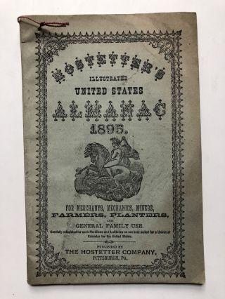 Hostetters illustrated United States Almanac 1895