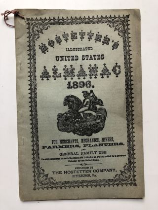 Hostetters illustrated United States Almanac 1896