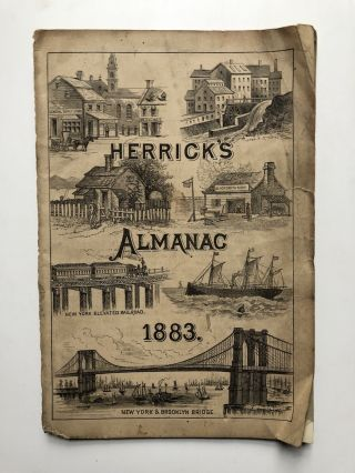 Herrick's Almanac 1883 / The Horse Owner's Friend