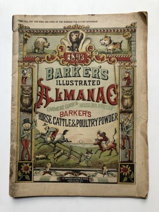 Barker's Illustrated Almanac 1893, Barker's Horse Cattle & Poultry Powder