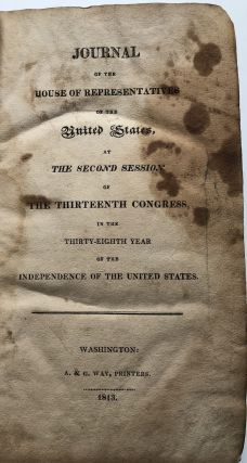 Journal of the House of Representatives of the United States...