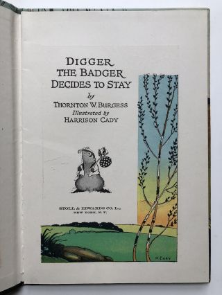 Digger the Badger Decides to Stay (fine copy in box)
