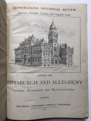 Cities of Pittsburgh and Allegheny, Leading Merchants and Manufacturers /...