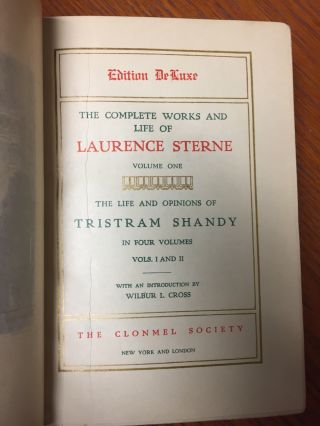 The Complete Works and Life of Laurence Sterne, 6 volumes...