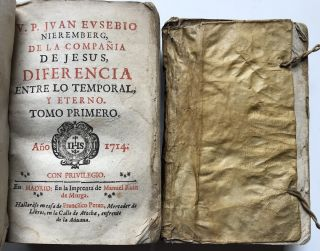 De la Differencia entre lo temporal y eterno, 2 volumes - 1714