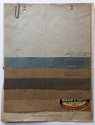 1922-1028 Lot of price lists, flyers, samples and brochures on...
