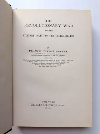 The Revolutionary War and the Military Policy of the United...