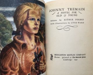 Johnny Tremain, a Story of Boston in Revolt (First edition in dust jacket)