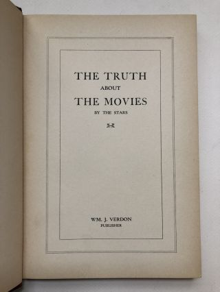 The Truth About the Movies - by the stars