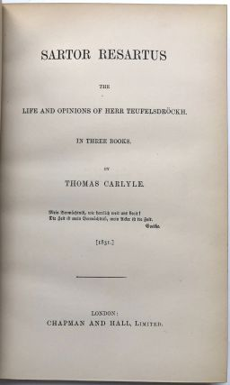 Collected Works of Thomas Carlyle, 34 volumes, flame calf, 1887-1893