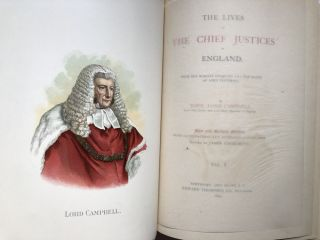 The Lives of the Chief Justices of England, 5 volumes