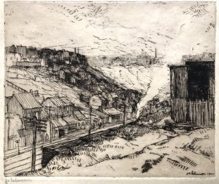 """""""Scenery Along the Railroad"""" from Ten Etchings from Pittsburgh (1905, limited to 60 signed prints)"""