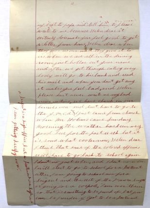1917 4 pp. letter from African-American officer John Henry, Company A, No. 11, 317 Engineer's Corps, Camp Sherman Ohio about life in the barracks