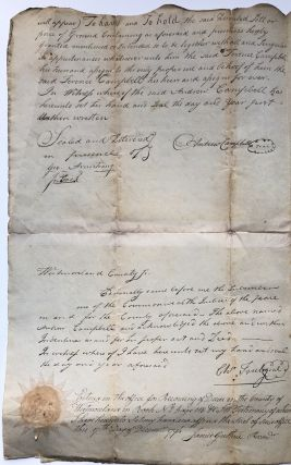 Handwritten large deed (indenture) for lot and structures in Greensburg PA 1793